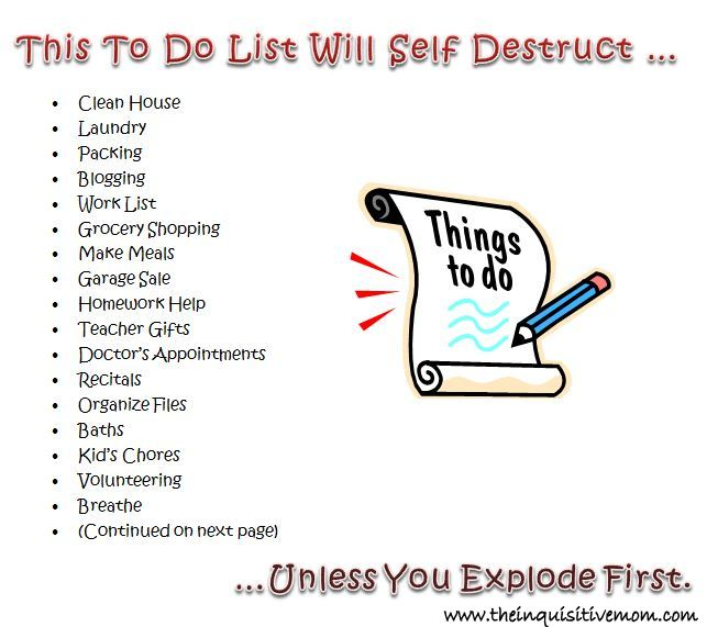 this to do list will self destruct